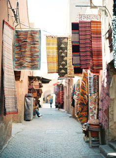 A souk in Marrakech, Morocco by Jose Villa Oh The Places You'll Go, Places To Travel, Travel Destinations, Places To Visit, Travel Tips, Travel Ideas, Travel Photos, Voyager C'est Vivre, Mekka
