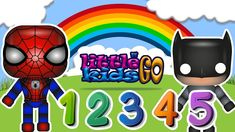 Little Kids Go TV - Learning Numbers for Kids, Spiderman & Batman, Carto...