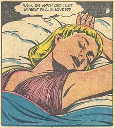 """Comic girls say.. """"why oh why did i let myself fall in love """"        #comic #vintage #popart"""
