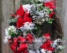 Your place to buy and sell all things handmade Easter Wreaths, Holiday Wreaths, Valentine Wreath, Valentines, Dining Room Blue, Victorian Gardens, Heart Wreath, Blue And Silver, Rustic Wedding