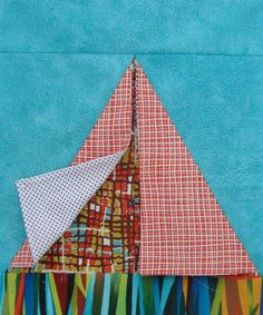 teepee quilt block tutorial | Flaps on the teepee pull back and reveal a different fabric | could be a great eye spy quilt! | patchwork posse