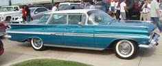 1959 Chevrolet Impala 4-door Hardtop Sedan #chevroletimpala1959