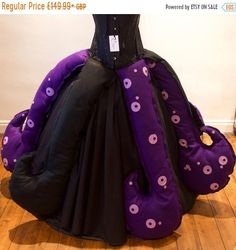 c2c8146b779 Women s Ursula Sea Witch inspired Villain Party Skirt   Tentacles