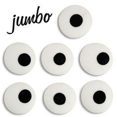 Jumbo White Royal Icing Eyes - Layer Cake Shop