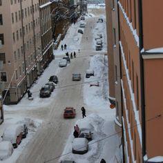 Winter in Helsinki capital of Finland