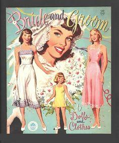 BRIDE AND GROOM PAPER DOLLS 1949 UNCUT ORIGINAL MERRILL BOOK | eBay