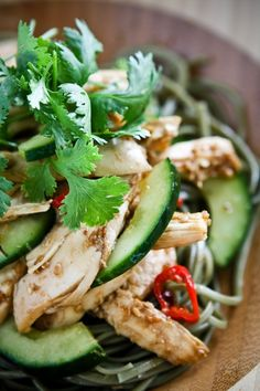 Asian sesame chicken noodle salad