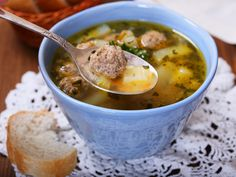 I'm checking out a delicious recipe for Summer Meatball Soup from Fred Meyer! Soup Recipes, Healthy Recipes, Recipies, Meatball Soup, Butter Beans, Romanian Food, Diet And Nutrition, Soul Food, Cheeseburger Chowder
