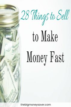 These are some great ideas! If you're in a bind and need money now, check out these 28 things to sell to make money fast!