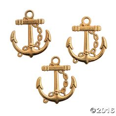 These Goldtone Anchor Charms make a wonderful addition to your jewelry making supplies. Add them to handmade necklaces or beaded braclets as a special ...