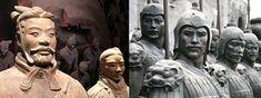 El ejército de Guerreros de Terracotase encargaban de defender y proteger la tumba del emperador de China Qin Shi Huang, eran un gran ejemplo de clones de guerreros, la imagen...