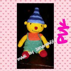 De wereld van een Draadje... het patroon van Puk Crochet Baby Toys, Crochet Hats, Baby Born, Doll Toys, Tweety, Free Pattern, Diy And Crafts, Baby Shower, Knitting