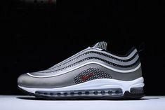 WomenMen 2020 Discount Mens And WMNS Nike Air Max 97 Ultra Grey Obsidian Rose 917704 006