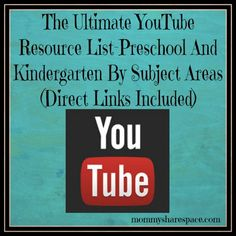YouTube is an excellent resource for learning. As a homeschooler, I use YouTube to add a bit of fun to my kids learning and to help them keep engaged. It also serves to exposes them to learning so much more. The thing with YouTube however, is that finding relative videos could sometimes be overwhelming sometimes. This is The Ultimate YouTube Resource List-Preschool And Kindergarten By Subject Areas.