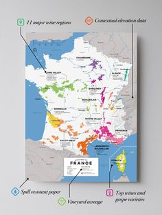 South africa wine map wines high quality detailed and accurate map of major wine appellations in france available as a posterprint gumiabroncs Choice Image
