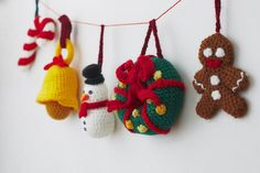 Get ready for Christmas with this crochet pattern for 14 adorable Christmas ornaments!With this easy to follow and clear crochet pattern you can make these cute ornaments in no time, there are a lot of pictures included in the pattern to guide you through the descriptions. :)This crochet pattern bulk pack features the following designs:Christmas StarJingle BellsChristmas PresentChristmas Hat / Santa HatChristmas StockingChristmas WreathCandy CaneChristmas AngelHolly Leafs…