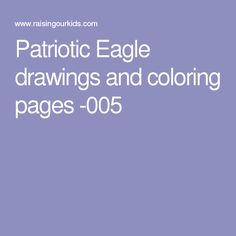 Patriotic Eagle drawings and coloring pages -005