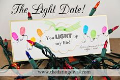 Show your hubby that he is the LIGHT of your life with this fun date night. www.TheDatingDivas.com #datenight #Christmas #datingyourspouse