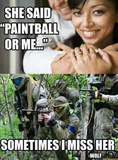 Hobbies For Older Men Paintball Funny, Paintball Girl, Frat Coolers, Travel Humor, Golf Ball, Bowling Ball, Airsoft Guns, Design Quotes, Education Quotes