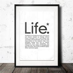 life poster - 40x60 Konstgaraget på Tradera.com - Posters -