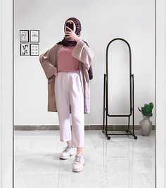 Modest Fashion Hijab, Modern Hijab Fashion, Casual Hijab Outfit, Hijab Fashion Inspiration, Hijab Style Dress, Muslim Women Fashion, Korean Girl Fashion, Mode Abaya, Mode Hijab