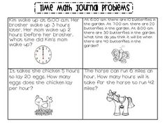 8 Best Telling Time Word Problems images in 2016 | Elementary math ...