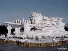 Cool snow art