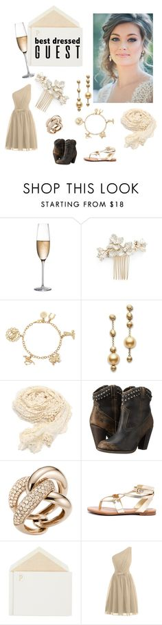 """""""Country Chic"""" by iniidiici ❤ liked on Polyvore featuring RogaÅ¡ka, Wedding Belles New York, Liz Claiborne, Mikimoto, Frye, Mattioli, Breckelle's, Connor, country and bestdressedguest"""