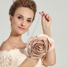 Unique Roses, Royal Blue Dresses, Black Sparkle, Special Dresses, Purse Styles, Party Makeup, Flower Fashion, Flower Petals, Bag Design