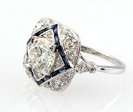 sorry, y'all...i love antique sapphire and diamond rings...
