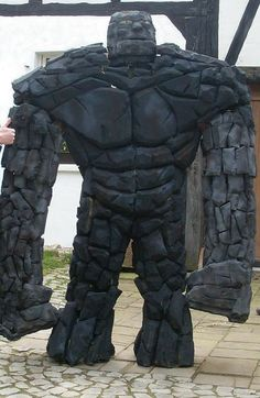 Picture of Foam Costume - Tone this down for BAMs rock monster costume