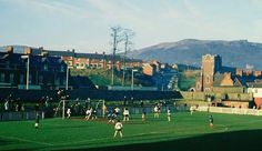 A Glentoran Ladies team playing a match at Seaview in the 1970s.