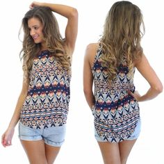 Tribal Aztec Top  | BORN TO BE CHIC