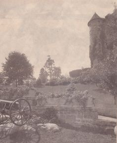 Grounds of Singer Castle circa 1915.