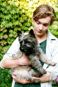 Toby Regbo and plus that dog is super cute too