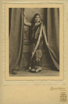 Studio Potrait of a Young Woman of Calcutta 1920s