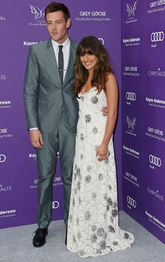Lea Michele and Boyfriend Cory Monteith at the Chrysalis Butterfly Ball in Los Angeles on June 8, 2013
