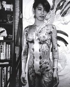 "[from ""Tokyo Sex Underground""by Romain Slocombe] Female full body irezumi Asian Tattoos, Hot Tattoos, Life Tattoos, Body Art Tattoos, Tattoo Girls, Japan Kultur, Gladiolus Tattoo, Crotch Tattoos, Rabe Tattoo"