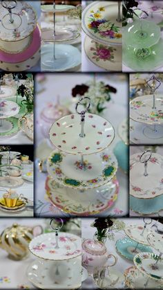 No tea party is complete without tiered cake stands.