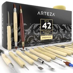 Home & Garden Pottery Tools,ball Stylus Dotti Comfortable Feel Pottery & Ceramics 20 Pieces Modeling Clay Sculpting Tools Set Polymer Clay Tools Include Carving Modeling Tools