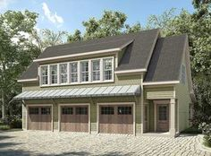 Architectural Designs Carriage House Plan 36057DK has a bedroom, kitchen and living room on the second floor with over 1,100 square feet of living. Easy when you are. Where do YOU want to build?