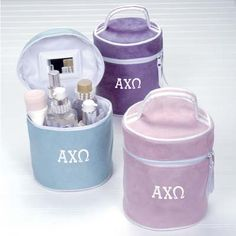 AXO cosmetic bags....so cute for a future little