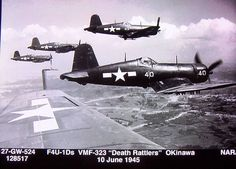 Here are some beautiful VMF-323 Corsairs.