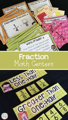 These 10 math centers are an engaging way for students to practice identifying fractions, comparing fractions and writing equivalent fractions.