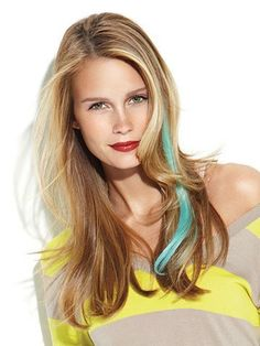 """Clip-In Color Strips Human Hair Extensions by Put On Pieces by Put On Pieces. $8.50. 16"""" Human Hair Clip In Color Strips are 16"""" long color accents for a splash of instant fantasy color without commitment. Affordable, lightweight, and easy to apply. These 1"""" wide strips snap into your hair and can be taken out in a matter of seconds. Now you get salon color highlights without a costly salon visit! Features: 100% Human Hair - You can curl or straighten using ther..."""