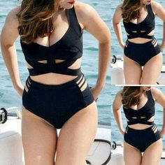High waist swim suit