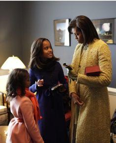 FLOTUS MichelleObama & Daughters Of The United States Of America Malia & Sasha Obama Inauguration Day January 20, 2009