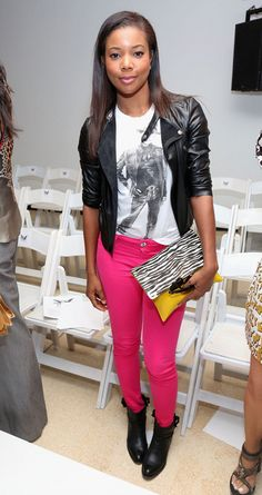 Gabrielle Union Does FRONT ROW At Mark McNairy NYFW Show | The Young, Black, and Fabulous