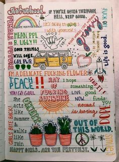 30 creative and effective bullet journal ideas for you 12 Wreck This Journal, My Journal, Vsco, Bullet Journal Inspiration, Bullet Journal Doodles Ideas, Journal Ideas Tumblr, Notebook Doodles, Artsy, Writing