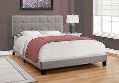 Anderson Queen Bed - Grey Linen